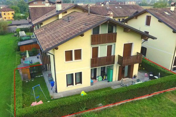 SEDICO Centrale. Appartamento p. terra con giardino 2 camere